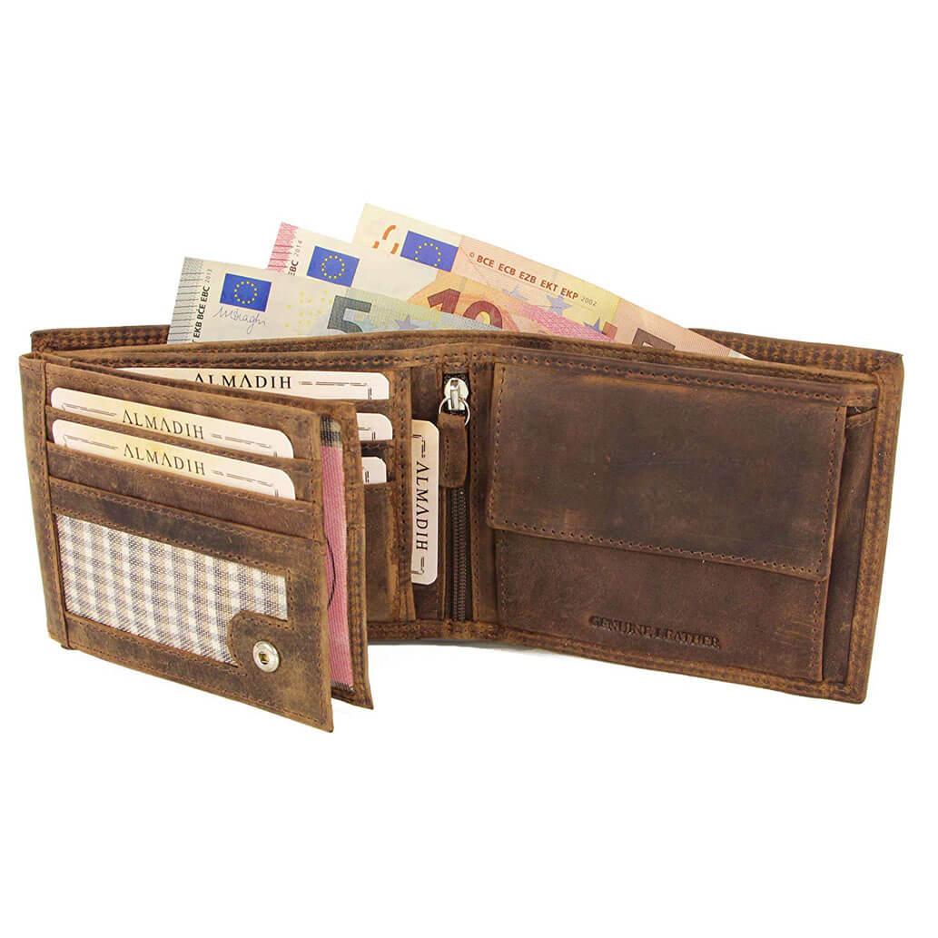 P2Q ALMADIH Leder Portemonnaie Braun Vintage