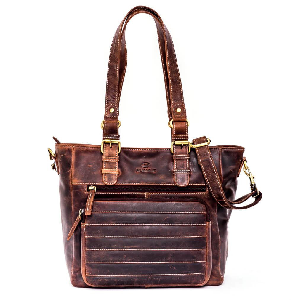 KYLA ALMADIH  Leder Damentasche Braun Vintage