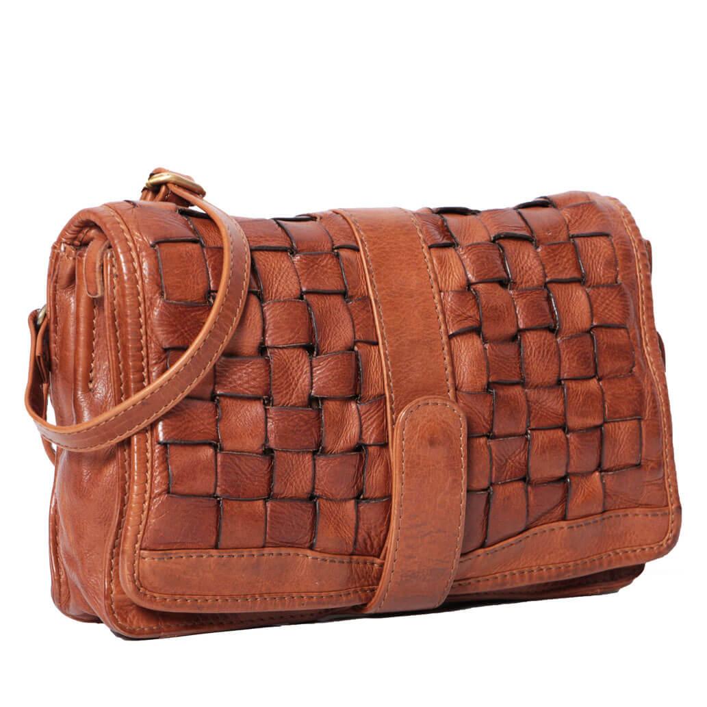 JOSIE ALMADIH Leder Damentasche Braun Vintage