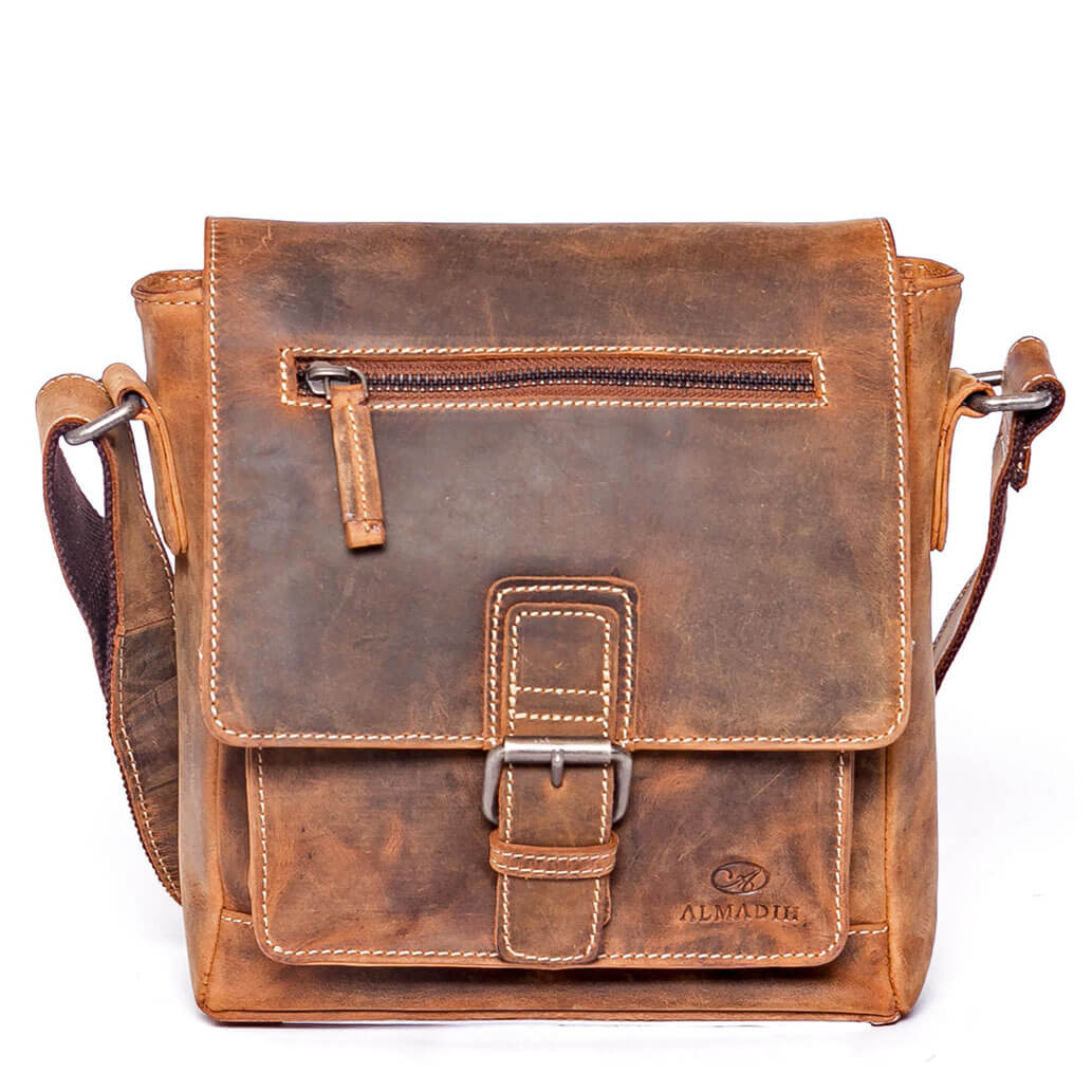LUIS ALMADIH Ledertasche Braun vintage