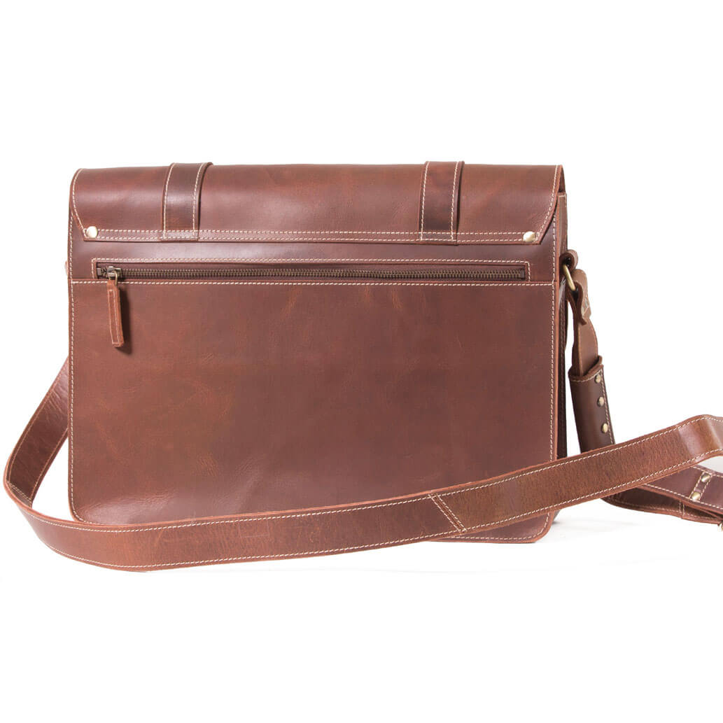 WILL ALMADIH Leder Aktentasche Braun Vintage