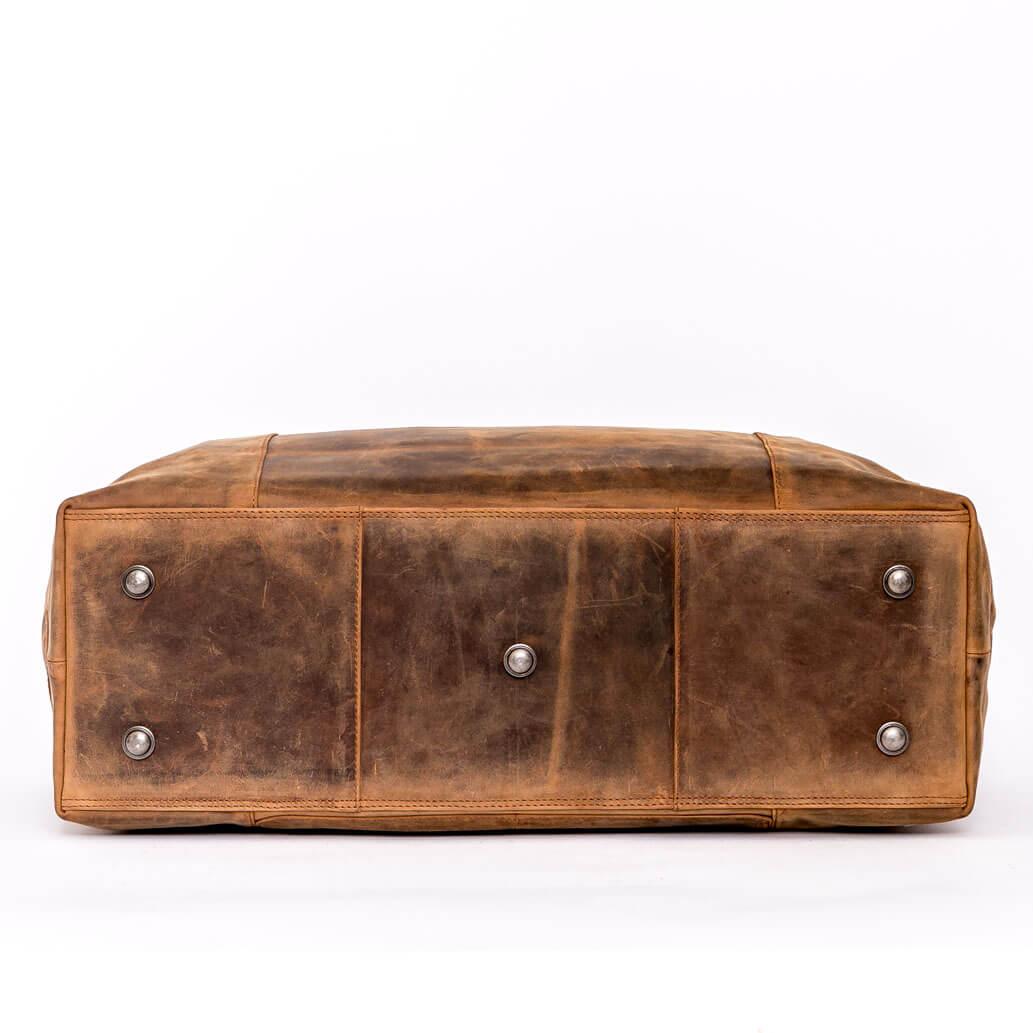 YURI ALMADIH Leder Reisetasche Braun Vintage
