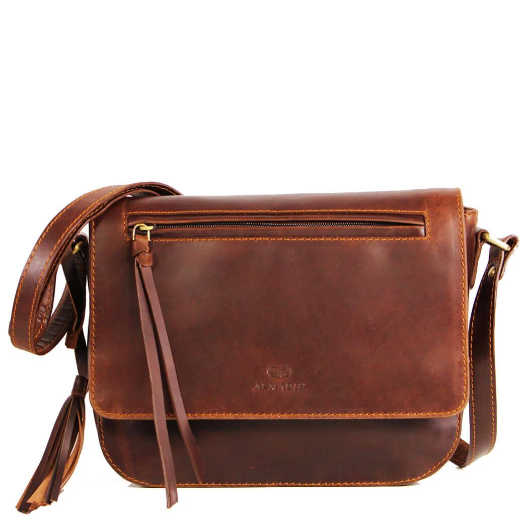 ELSA ALMADIH Leder Damentasche Braun Elegance