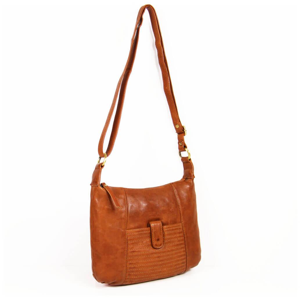 GRACE ALMADIH Leder Damentasche Braun Vintage