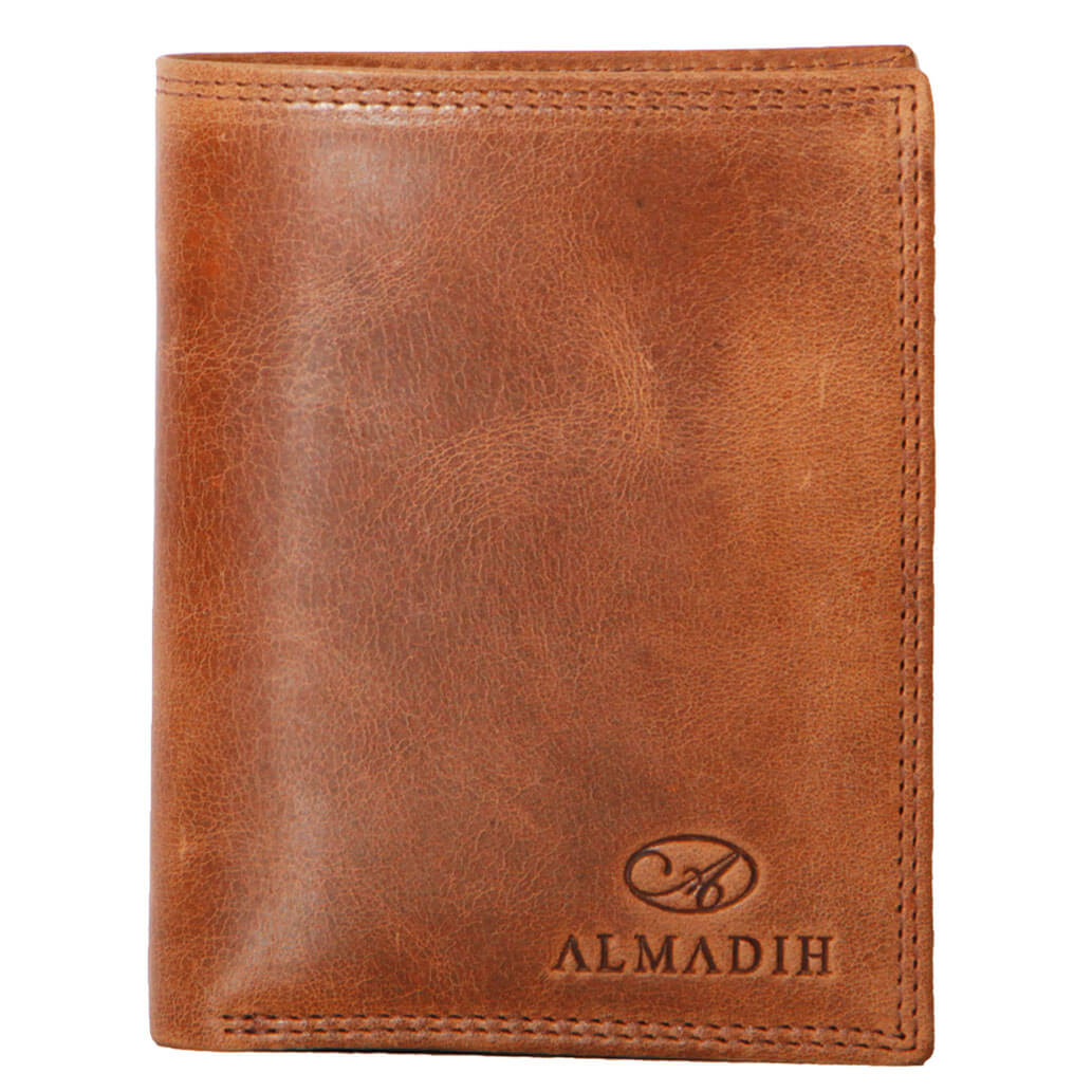 P1H ALMADIH Leder Portemonnaie Braun Tan