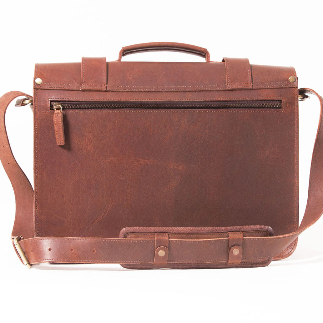 DAVE ALMADIH Leder Aktentasche Braun vintage